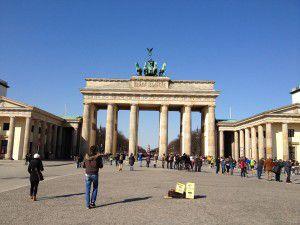 Brandenburger Tor Berlin die kleine botin