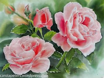 Nurhayat Artunc - Seidenmalerei - Rosen