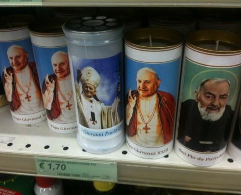 Papst Kerzen