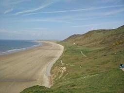 der schöne Strand in Wales