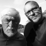 Mario Adorf mit Autor Tim Pröse (@ Tim Pröse)
