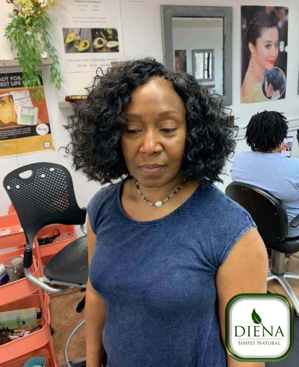 Crochet Braids with Freetress GoGo Curl Hair - DSN Braiding - Diena Simply Natural