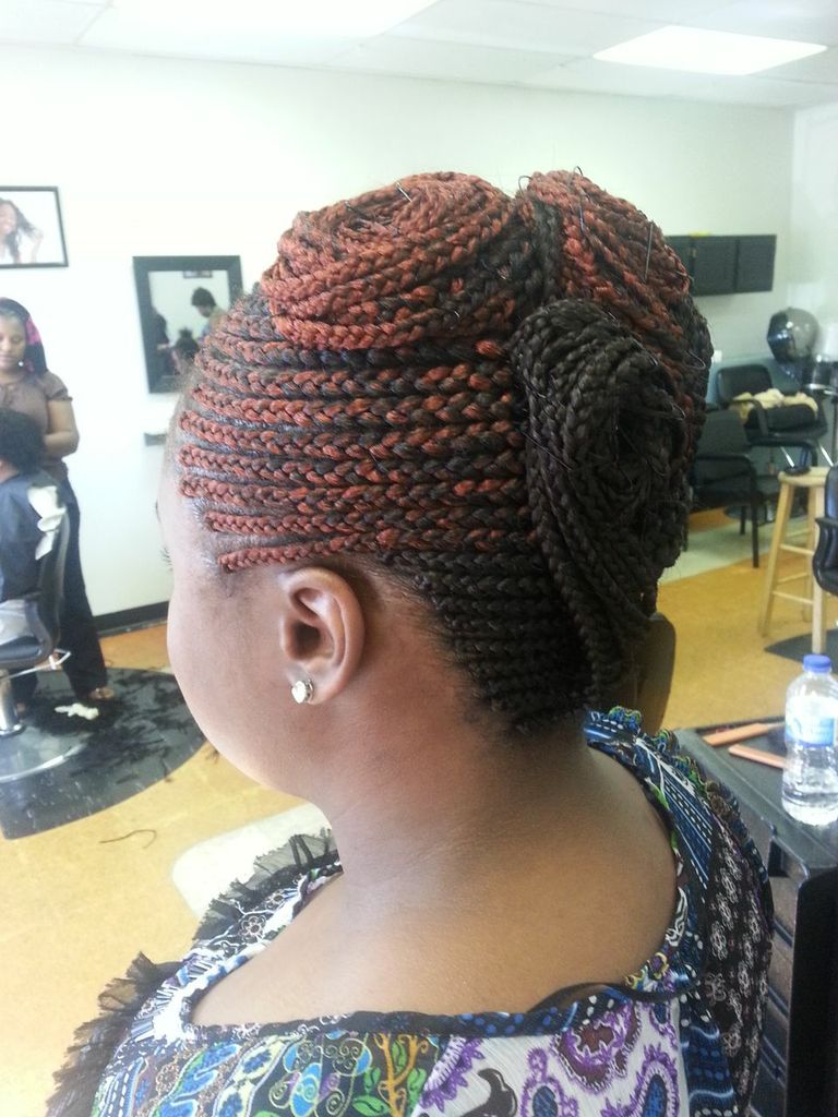 Conrow braids from Diena Simply Natural (DSN Braiding)
