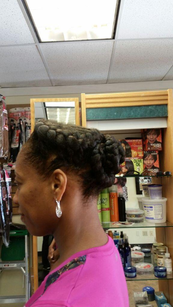 Goddess braids from Diena Simply Natural (DSN Braiding)