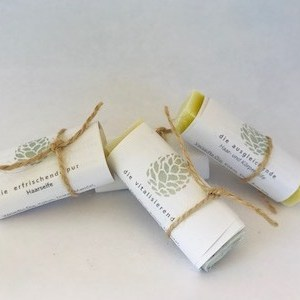 4 Haarseifen Probierstücke für das Haarseifen Probierset naturseife kaufen leicht gemacht