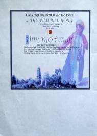 """05-03-2000 - Paris : Bích chương chương trình """"Tình Thơ Ý Nhạc"""""""