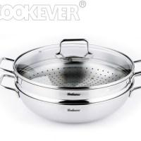Chảo hấp đa năng Cookever 32cm – có vỉ hấp
