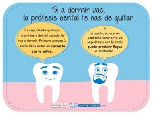 Si a dormir vas, la prótesis dental te has de quitar