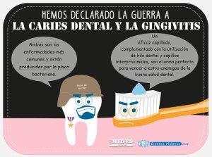 Hemos declarado la guerra a la caries dental y a la gingivitis