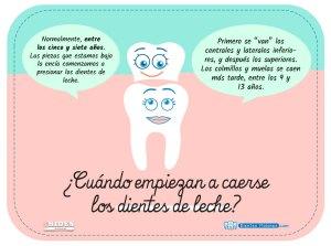 ¿Cuándo empiezan a caerse los dientes de leche?