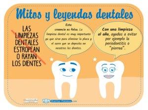 Mito y leyenda dental: Las limpiezas dentales estropean o rayan los dientes
