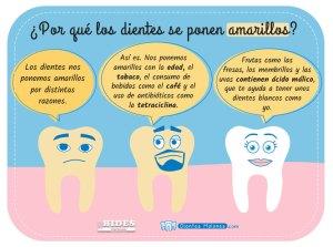 ¿Por qué los dientes se ponen amarillos?