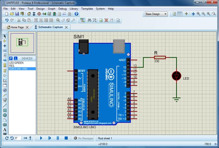 Mô phỏng Arduino trên Proteus