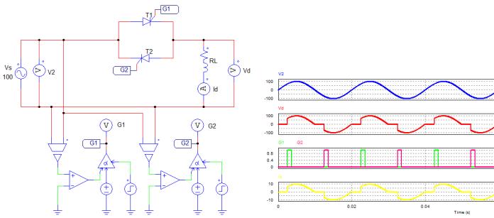 Mạch biến đổi điện áp xoay chiều một pha