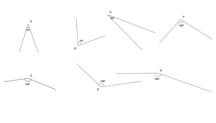 Winkel messen I Lösungen