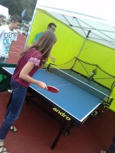 Ping-pong (Tischtennis) champion.