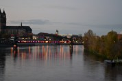 Evening lights in Magdeburg.