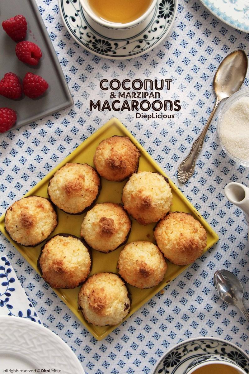 COCONUT & MARZIPAN MACAROONS