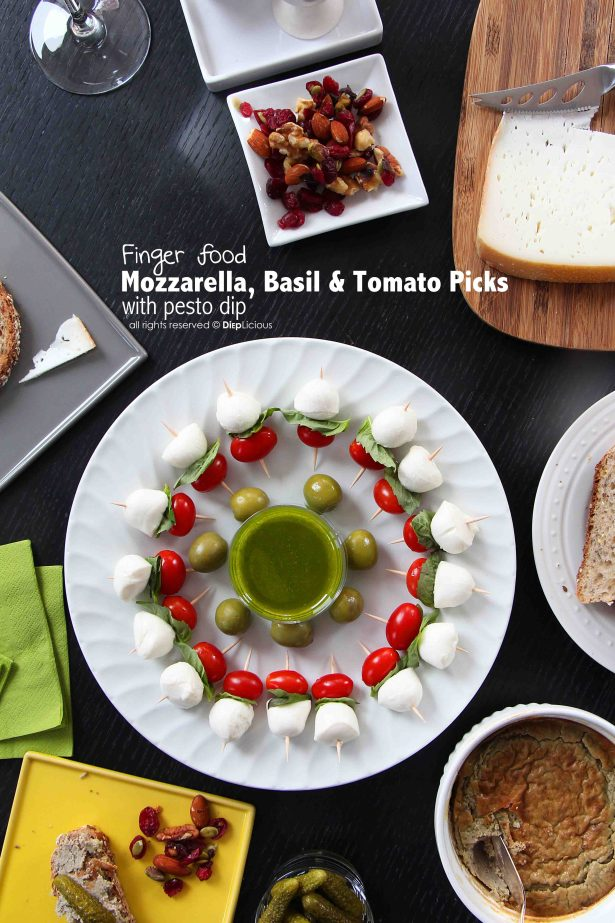 finger food mozzarella-tomato-picks