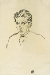 Hugo Sonnenschein alias Sonka – skizziert von Egon Schiele. Bild Egon Schiele (gemeinfrei)