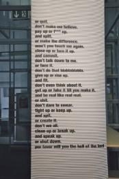Shut up Manifesto, Anna Maria Loffredo, 2021. Foto AML