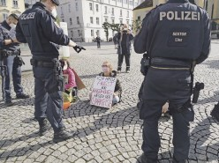 Extinction Rebellion: Rebellion der Tropfen, Linz. Foto Extinction Rebellion Österreich