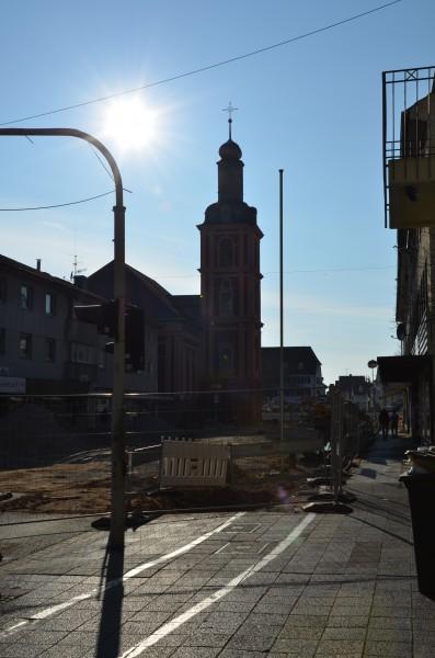 Der Rüsselsheimer Marktplatz in der Umbauphase