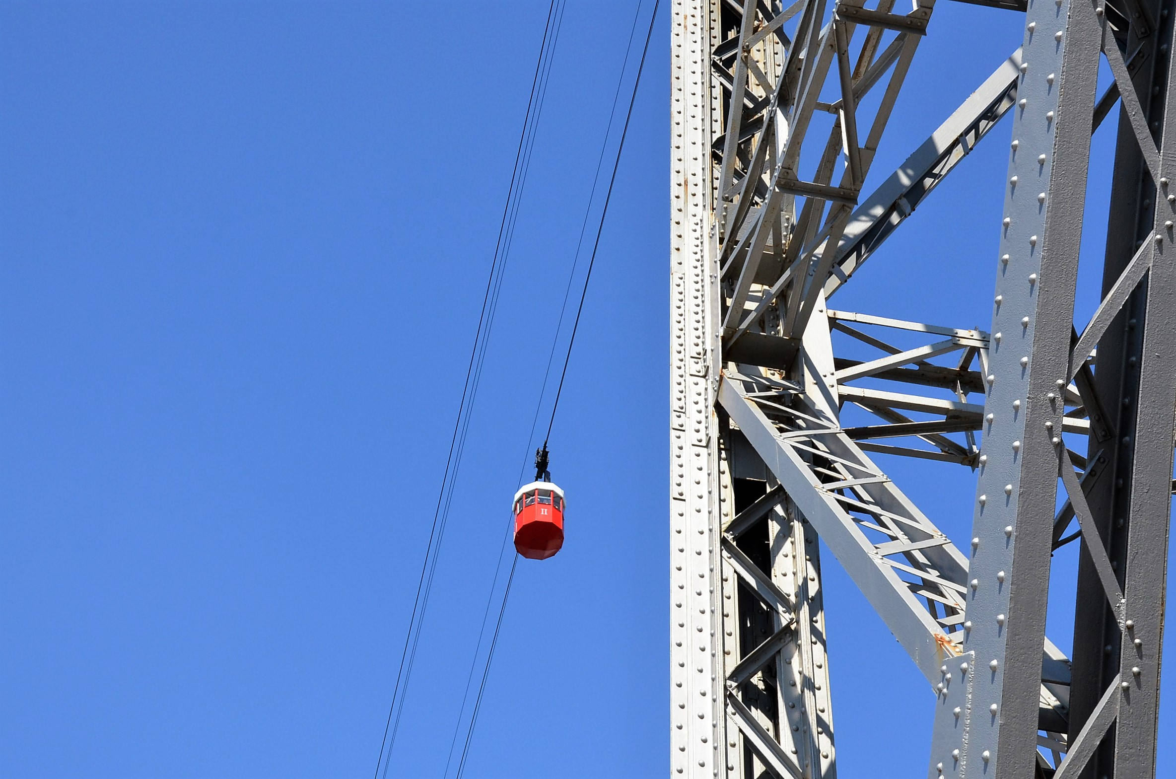 Rote Gondel, ein Wahrzeichen der Stadt