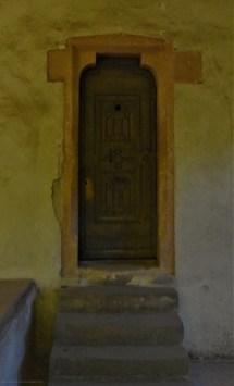 Im Film die Tür zum Skriptorium