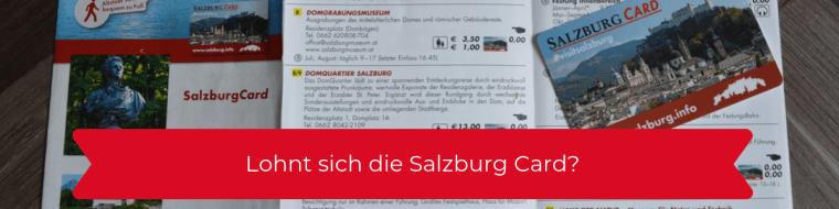 Bild zeigt die Salzburg Card