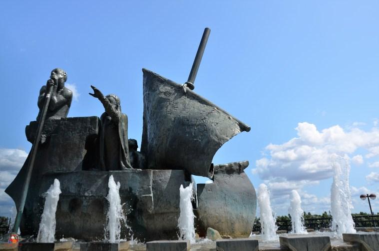 Die Barke des Frauenlobbrunnens in Mainz