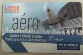 Fahrkarte für den Flughafenbus