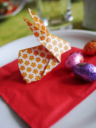 Ostern-Origami-Hase