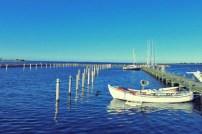 Leerer Hafen in der Nachsaison