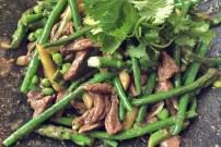 Rinder Stir-Fry Rezept Spargel Seglerküche und Camping