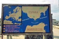 Spanien Marokko Strasse von Gibraltar