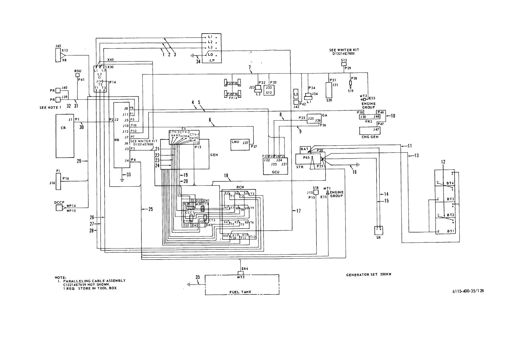 Figure 128 Wiring Diagram Interconnecting Wiring Harness