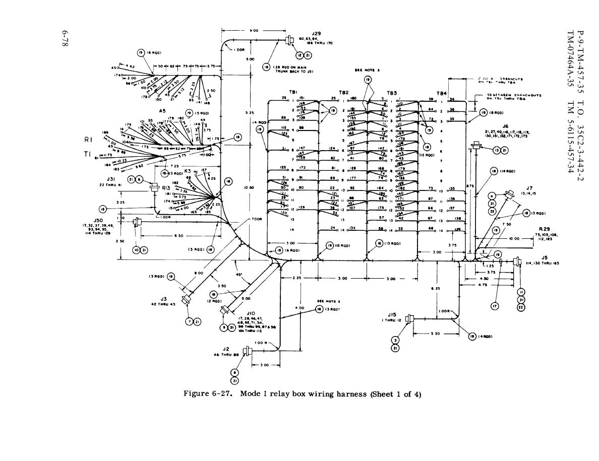 Figure 6 27 Mode I Relay Box Wiring Harness Sheet 1 Of 4