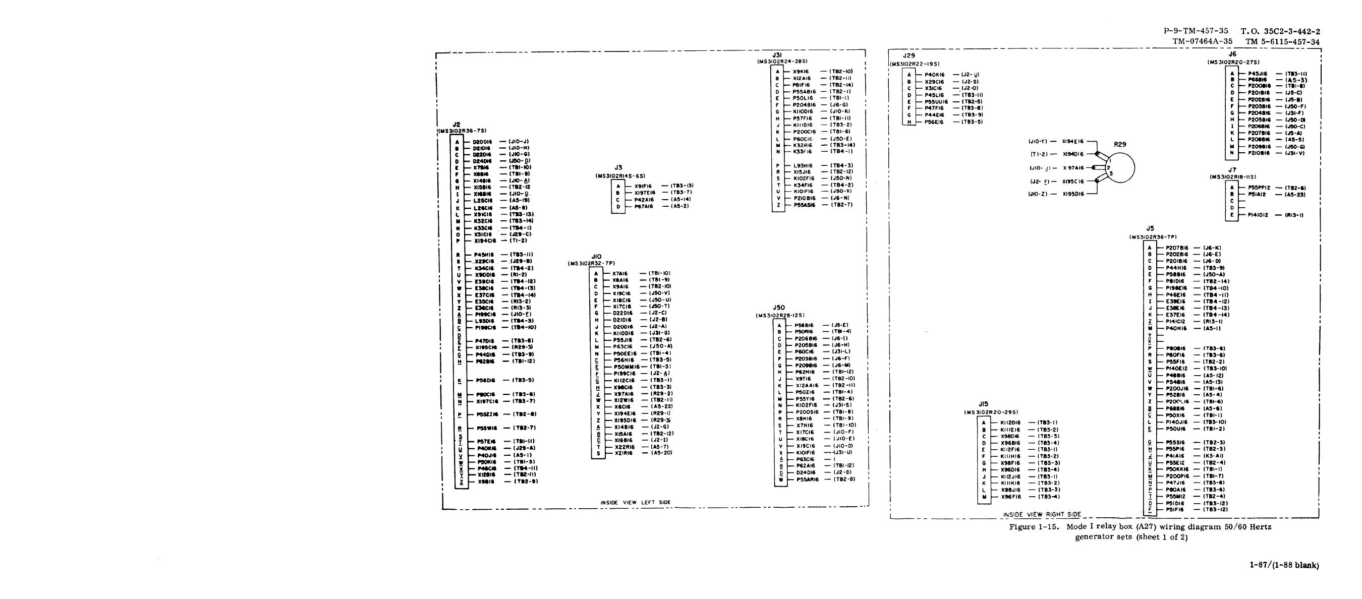 Figure 1 15 Mode I Relay Box A27 Wiring Diagram 50 60