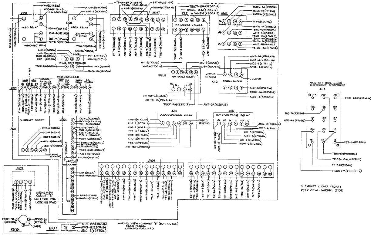 Fo 9 Cabinet B Wiring Diagram Sheet 2 Of 3