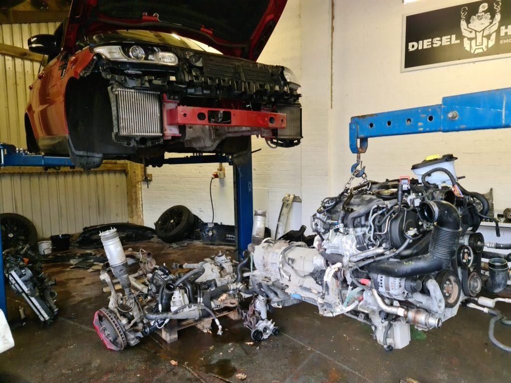 range rover sport new engine