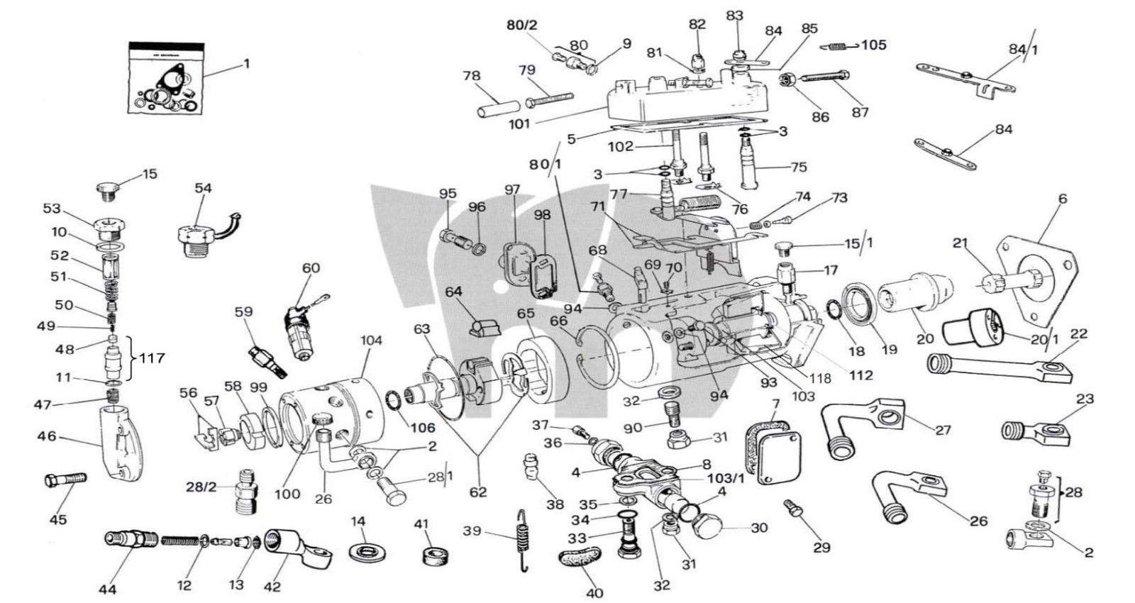 Cav Overhaul Rebuild Kit Rotosel Pump