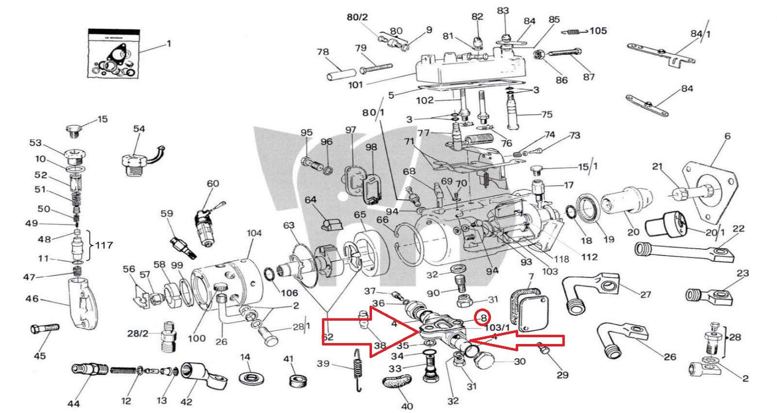 Cav Bottom Advance Body Mechanism 16a