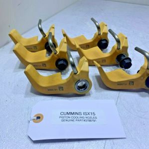 (SET OF 6) CUMMINS ISX15 ENGINE PISTON OIL COOLING NOZZLES 3788791 OEM