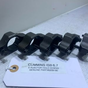 (SET OF 5) Cummins ISB 6.7 Diesel ENGINE HOLD DOWN BRACKET 5259180 OEM