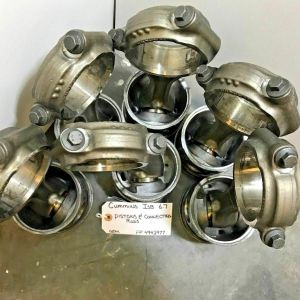 CUMMINS ISB 6.7 PISTONS AND CONNECTING RODS 4943977 4931041 OEM READY TO SHIP