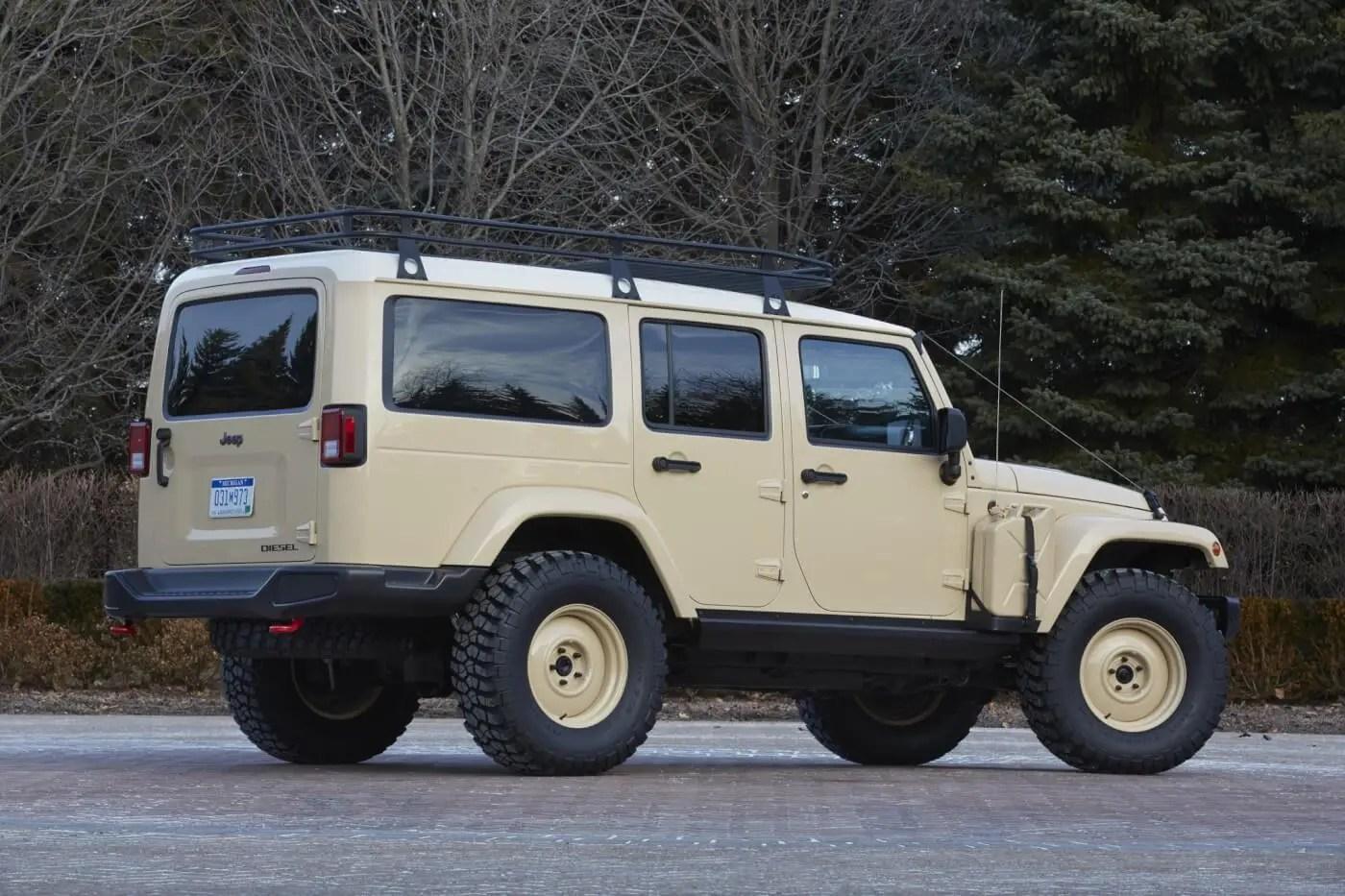 News: Diesel Wrangler Concept + Boxless Colorado