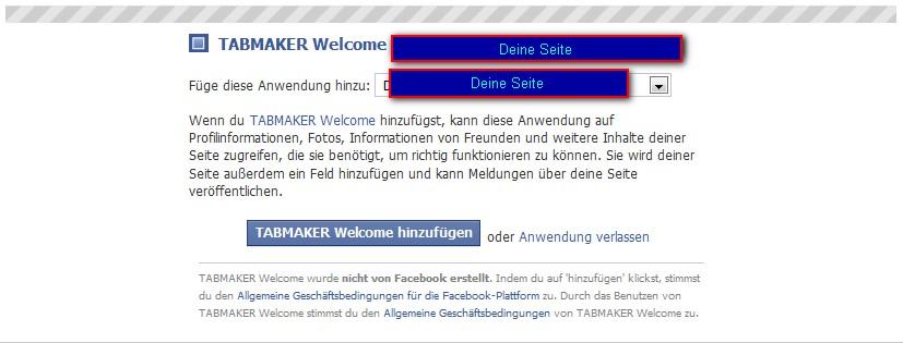 Werben auf Facebook – neue Reiter mit eigenen Inhalten erstellen (3/4)