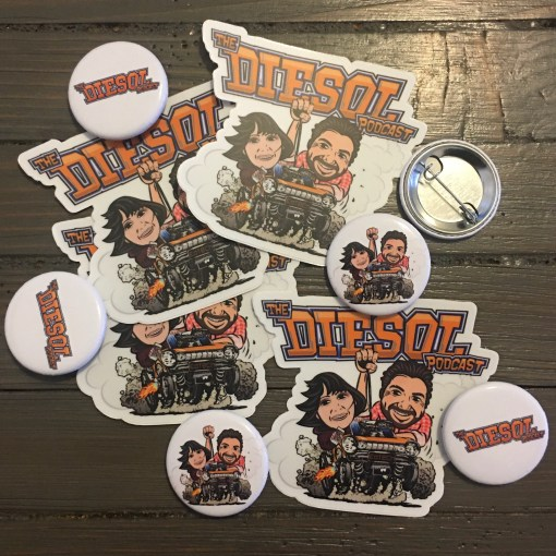 DIESOL Stickers and Buttons