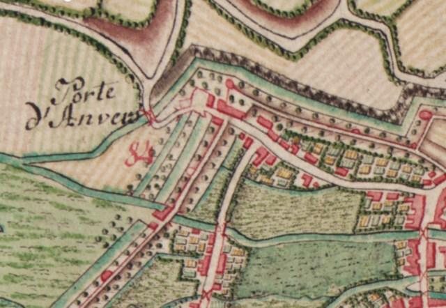 Antwerpse Poort anno 1777